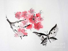 how to paint plum blossom branch - Google Search