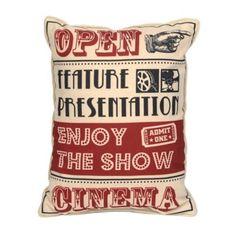 Home Theater Accent Pillow   Kirklands