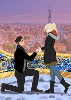 TrashyArtz — It's a beautiful night, we're looking for. Yurio And Otabek, Yuri Katsuki, Cute Anime Character, ユーリ!!! On Ice, Yuri Plisetsky, Maid Sama, Anime Costumes, Shounen Ai, Cute Gay
