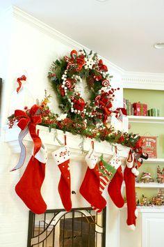 Mantel Decorating Ideas - Holiday Home Tour