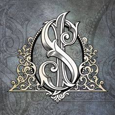 We develop a family and corporate coats of arms, monograms, logos. This category includes our monogram. You can store Your coat of arms, monogram or logo. We are from Russia, but work around the world. Write on e-mail gm. Calligraphy Tattoo Fonts, Calligraphy Fonts Alphabet, Alphabet Symbols, Hand Lettering Alphabet, S Logo Design, Monogram Design, Monogram Letters, Monogram Logo, Creative Lettering