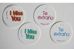 Mini tarjetas I Miss you/ Te extraño Paquete 10 por Tianguisonline