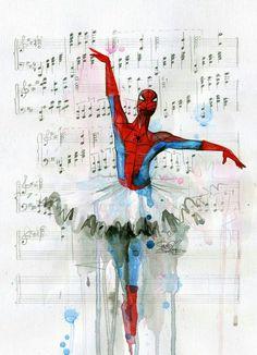 Spider men balett