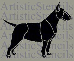 Bull Terrier Dog Stencil 10x8.3