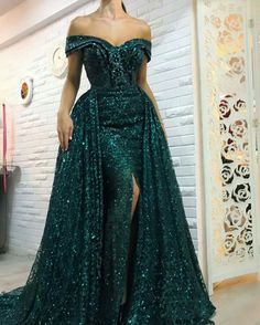 Green Glitter Off Shouler Sexy Mermaid Evening Dresses Long Sparkly Evening Gowns Robe De Soiree Real Photo 2018 New Cheap Evening Gowns, Evening Dress Long, Mermaid Evening Dresses, Gala Dresses, Prom Party Dresses, Occasion Dresses, Kohls Dresses, Party Gowns, Casual Dresses
