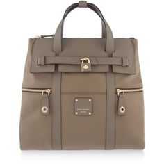 Henri Bendel Jetsetter Convertible Backpack (9,870 THB) ❤ liked on Polyvore featuring bags, backpacks, taupe, satchel handbags, nylon backpack, zipper pouch, brown backpack and brown satchel handbags
