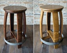 Our Napa Valley Wine Barrel Stools are incredibly well built and sure to look great in any refined space. We craft this wine barrel stool entirely from a recycled red wine barrel. The Napa barrel was used in production for several years and has red wine… Counter Stools With Backs, Counter Height Stools, Build A Pizza Oven, Fire Pit Grill, Outdoor Kitchen Bars, Outdoor Stools, Metal Barrel, Wine Design, French Oak