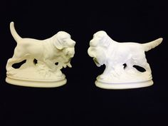 Pair of Hound Hunting Dogs  One with Rabbit by HandcraftedCeramics