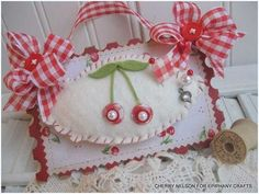 Red and white Mini Pin cushion...What could be better? by mmcovey