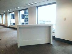 White gloss reception desk. The  Tonnille