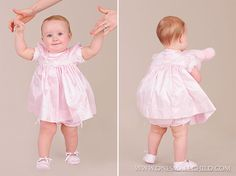 Simple but dressy, and comes with matching bloomers! Easter Dresses for Babies: Spring 2014 www.onesmallchild.com