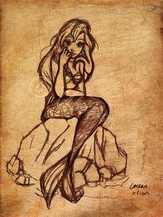 Ariel Sketch by ~ubodan on deviantART