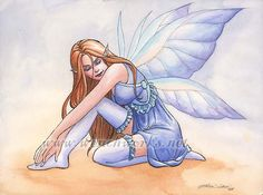 Fairy in Blue Stockings by Wenchworks on deviantART