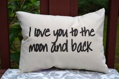 Personalized pillow, Valentine gift idea, Love pillow COVER, Moon pillow, anniversary pillow, couples pillow