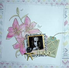 Mixed media scrapbook layout by Sophie Ranga