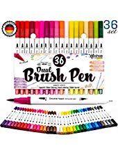 Brush Pen Doppelspitze 100 Farben Marker Stift Set Aquarell