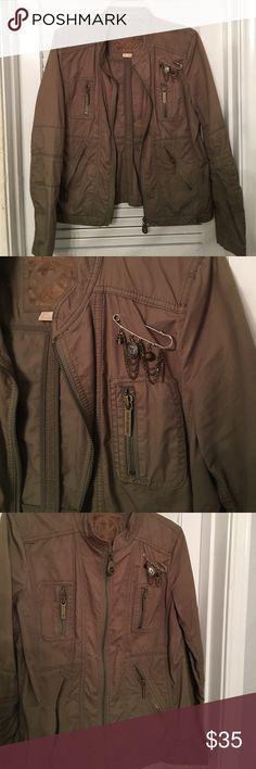Light weight bomber jacket Michael Kors army green bomber jacket. Worn few times Michael Kors Jackets & Coats Jean Jackets