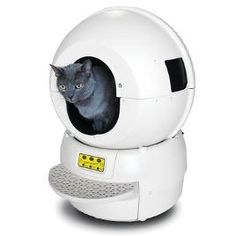 Love your cat but hate cleaning the litter box?  You need the Litter Robot from SkyMall! $339.99