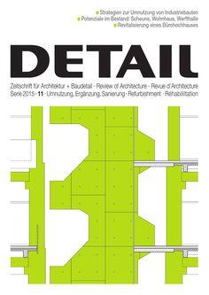 DETAIL 11/2015 - Umnutzung, Ergänzung, Sanierung  Das Bauen im Bestand ist ein ebenso reizvolles wie anspruchsvolles Thema, das im Hinblick auf die Nutzung räumlicher Ressourcen immer mehr an Bedeutung gewinnt. Dabei ist das Spektrum der Bauaufgaben und architektonischen Strategien breitgefächert und reicht vom behutsamen Konservieren mit kaum sichtbaren Eingriffen über die Transformation und Neuinterpretation des Vorgefundenen bis hin zum bewussten Kontrast von Alt und Neu. In der…