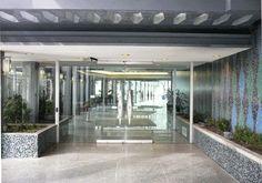 Lobby Entrance Classic Building, Modern Architects, Condominium, Mid-century Modern, Entrance, Electric, Mid Century, Design, Entryway