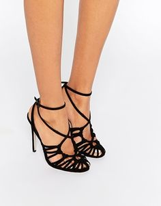 804bcc3042148b ASOS PERRY Caged Heels Cheap Womens Shoes