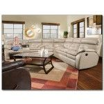 Recline Designs Furniture - Jody White Leather Reclining Sectional  SPECIAL PRICE: $2,489.00
