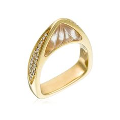 Stefan Hafner Ala 18K Yellow Gold Ring With Quartz & Diamonds (=)