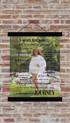 Senior Photo Class of 2019 I Wish For You Canvas Banner Hanging Wall Print - Graduation Party Decor Gift