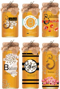 Spices Packaging, Honey Packaging, Jar Packaging, Food Packaging Design, Packaging Design Inspiration, Honey Jar Labels, Honey Label, Honey Jars, Honey Bottles