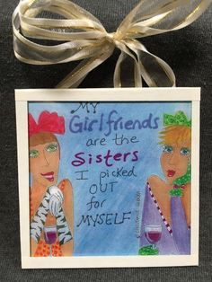 Mini message plaque: girlfriends/sisters by ConstanceCollection