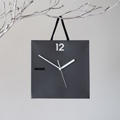 Colorful Shopping Bag Wall Hanging Non-Ticking Silent Clock