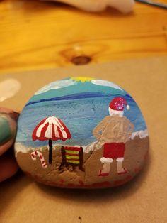 Best DIY Christmas Painting Rocks Design (73)