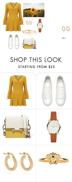 """""""easy peasy lemon squeezy"""" by maja-kristiansson on Polyvore featuring Miss Selfridge, Marni, Anissa Kermiche, Versace and Maya Brenner Designs"""