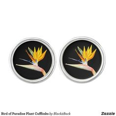 Shop Bird of Paradise Plant Cufflinks created by Personalize it with photos & text or purchase as is!