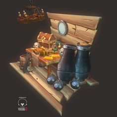 Low-Poly Pirate Theme Set, Rafael John on ArtStation at https://www.artstation.com/artwork/3EGQB