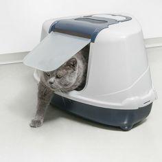 Bandeja Sanitaria Cubierta Rinconera para Gato - Sanitario Toilet - Flip Corner- Color Azul