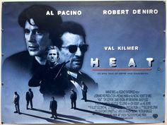 HEAT 1995 #vintage UK Quad #movie #poster. Michael Mann's classic #crime #film. Stars #AlPacino #RobertDeNiro