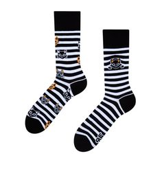 Good Mood Socks Cats & Stripes Crazy Socks, Odd Socks, Best Underwear, Ankle Highs, White Cats, Cat Gifts, Good Mood, Panda, Dog Cat
