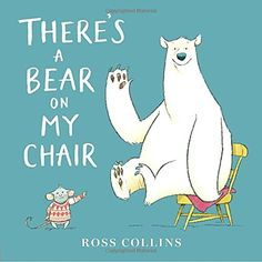 9.6.2016. There's a Bear on My Chair by Ross Collins (August 2016). Great rhyme scheme (all rhymes with bear, I do declare!). I also love the solid colored pages with white text, really setting off the big white polar bear that is so prominent in each illustration. Fun for reading out loud. Could be nice as a puppet show, too!