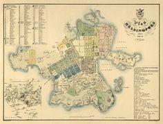 Helsinki old map, 1837