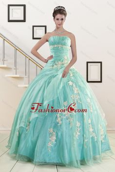 cf0e03b1a4d Discount Blue Quinceanera Dresses with Appliques for 2015 XFNAO685FOR