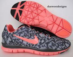 nike leopard coral