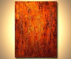 Modern Art Poster on Photographic Paper  Orange  von OsnatFineArt