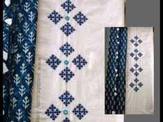 Border Embroidery Designs, Kurti Embroidery Design, Embroidery Flowers Pattern, Hand Embroidery Stitches, Embroidery Kits, Embroidery On Kurtis, Hand Embroidery Dress, Hand Embroidery Videos, Embroidery Fashion