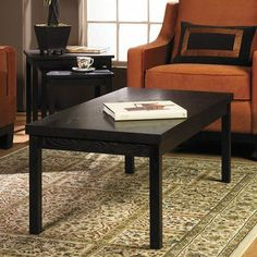 Office Star MST12 Main Street Coffee Table, Espresso by Office Star. $123.53. Solid Wood Legs with Wood Veneer Top. Rich Espresso Finish. Color Brown. Easy Assembly - Just Attach Legs. Shipping Method UPS. Finish:Espresso  Main Street Coffee Table  Solid wood legs  Wood veneer topEasy assembly; just attach legs. Save 55% Off!