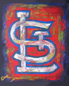 canvas art st. louis cardinals