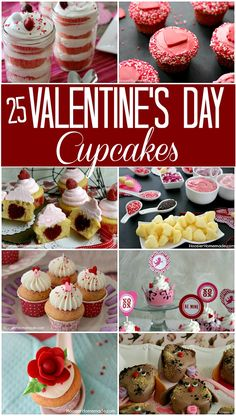 25 Valentines Day Cupcake Recipes to choose from! 25 Valentines Day Cupcake Recipes to choose from! Pink Red Chocolate Kid Friendly and More! Valentine Day Cupcakes, Valentine Desserts, Valentines Day Food, Valentine Treats, Valentines Recipes, Valentines Baking, Valentine Party, Muffin Tin Recipes, Cupcake Recipes