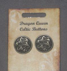 Epona Celtic Goddess of Horses  Metal Buttons by tribeofthefaefolk