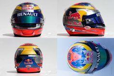 Jean-Eric Vergne helmet Scuderia Toro Rosso