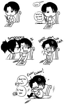 Ahahahaha! Totally pinning this as Levihan | chibi Levi like a cat | Hanji | Erwin | SNK